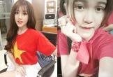 Nữ cổ động viên xinh đẹp chế nhạc cổ vũ U23 Việt Nam