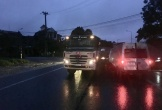 Ô tô khách va chạm xe tải, 1 người chết, 1 người trọng thương