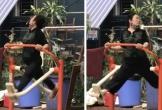 Người phụ nữ tập thể dục buổi sáng với 'thần thái' kiêu sa