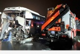 Xe cảnh sát đấu đầu ôtô khách khi đi cứu hộ, 11 người bị thương