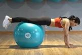 10 phút tập luyện với bóng giúp giảm mỡ bụng và hai bên lườn