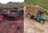 Xe tải chở nặng băng rừng vượt suối và những cái kết thảm khốc