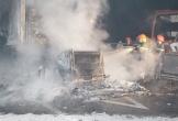 Container bốc cháy khi đang lưu thông