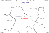 3 ngày xảy ra 2 trận động đất ở huyện Nam Trà My