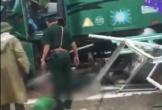 Xe container tự trôi đâm chết Trung tá Biên phòng đang gác trong bốt