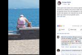 Cụ ông 72 tuổi đem di ảnh của vợ cùng ngắm biển khơi mỗi ngày