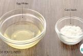 Dùng hỗn hợp lòng trắng trứng và bột ngô lỗ chân lông to đến mấy cũng se khít hết