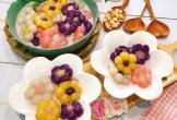 Chè khoai dẻo tạo hình bông hoa