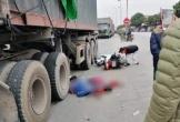 Tự ngã khi sắp sang đường, đôi nam nữ bị xe container cán chết thương tâm