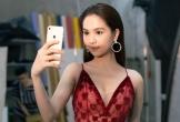 Ngọc Trinh diện váy xẻ ngực chụp poster 'Đêm hội chân dài'