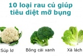 10 loại rau củ không thể thiếu trong thực đơn giảm cân