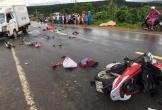 2 người đi xe máy tử vong tại chỗ sau cú va chạm với xe tải