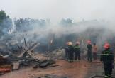 Xưởng gỗ trong khu công nghiêp tại Quảng Bình bị thiêu rụi lúc sáng sớm