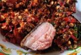 Bò nướng lụi chấm muối kiến vàng
