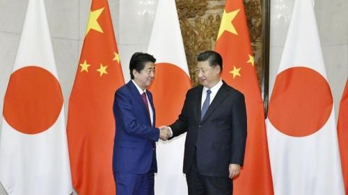 Chủ tịch Tập Cận Bình và Thủ tướng Shinzo Abe
